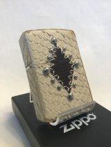 No.200 レザーシリーズZIPPO ホワイトパイソン z-2091