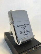 No.250 ヴィンテージZIPPO 1982年製 ZIPPO社2代目社長 ROBERT.D.GALEY ロバート.D.ゲーリー サイン入り z-2366