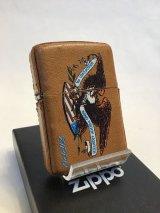 No.200 レザーシリーズZIPPO アメリカンイーグル 牛革 ブラウン z-2480
