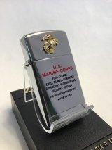No.1610 ヴィンテージZIPPO 1981年製 US MARINE CORPS マリーン コープス メタル z-2497